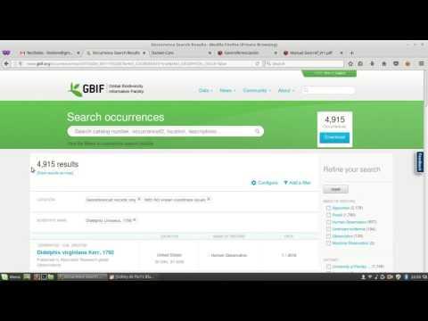 Obtención de una base de datos de biodiversidad georreferenciados