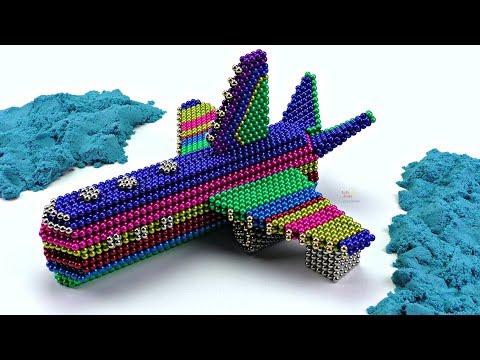Как сделать Самолет из Магнитных шариков Неокуба Играем с магнитными шариками