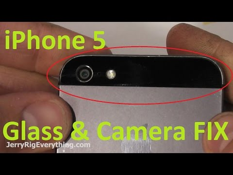 iPhone 5 Back Glass & Camera Lens Replacement Easy!