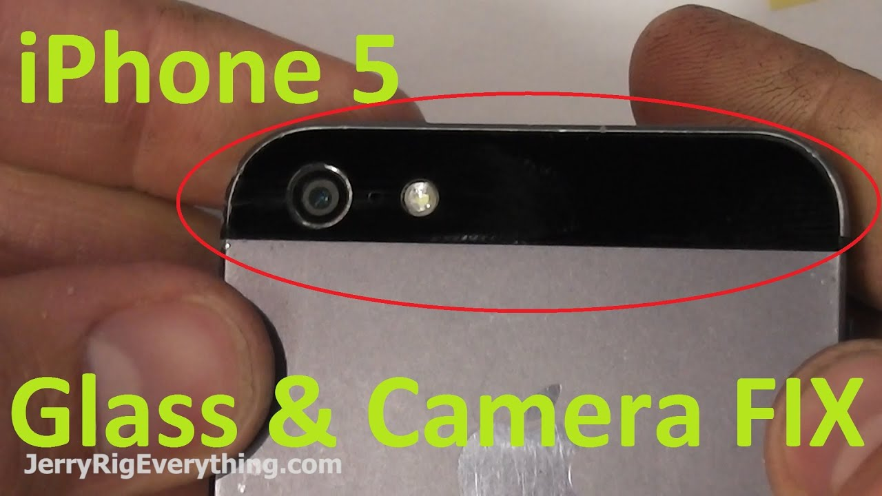 iPhone 5 Back Glass & Camera Lens Replacement Easy