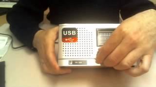 Радиоприемник БЗРП-309 FM УКВ СВ КВ + МР3 плеер, разъем SD USB