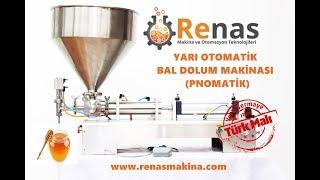 Bal Dolum Makinası   Renas Yoğun Sıvı Kavanoz Dolum Makinası