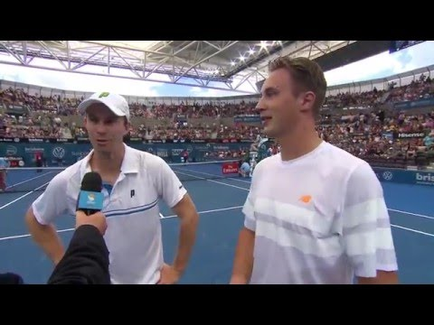 Henri Kontinen & John Peers on-court interview (SF) | Brisbane International 2016