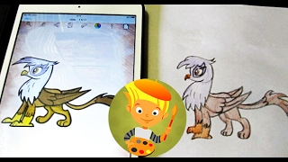 Gilda. My Little Pony. How to draw pony and coloring your favorite Gilda! Drawing my Little Pony