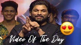 Allu Arjun Imitates Priya Prakash Varrier | Lovers Day Movie Audio Launch | 2019 Telugu Movies