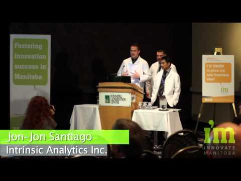 Jon-Jon Santiago (2nd Place) presents Intrinsic Analytics at Innovate Manitoba's PitchDay 2013