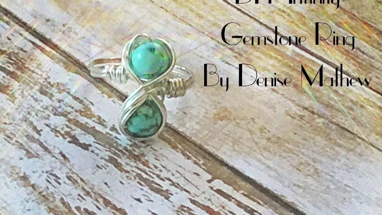 DIY Bead and Wire Infinity Ring by Denise Mathew - YouTube