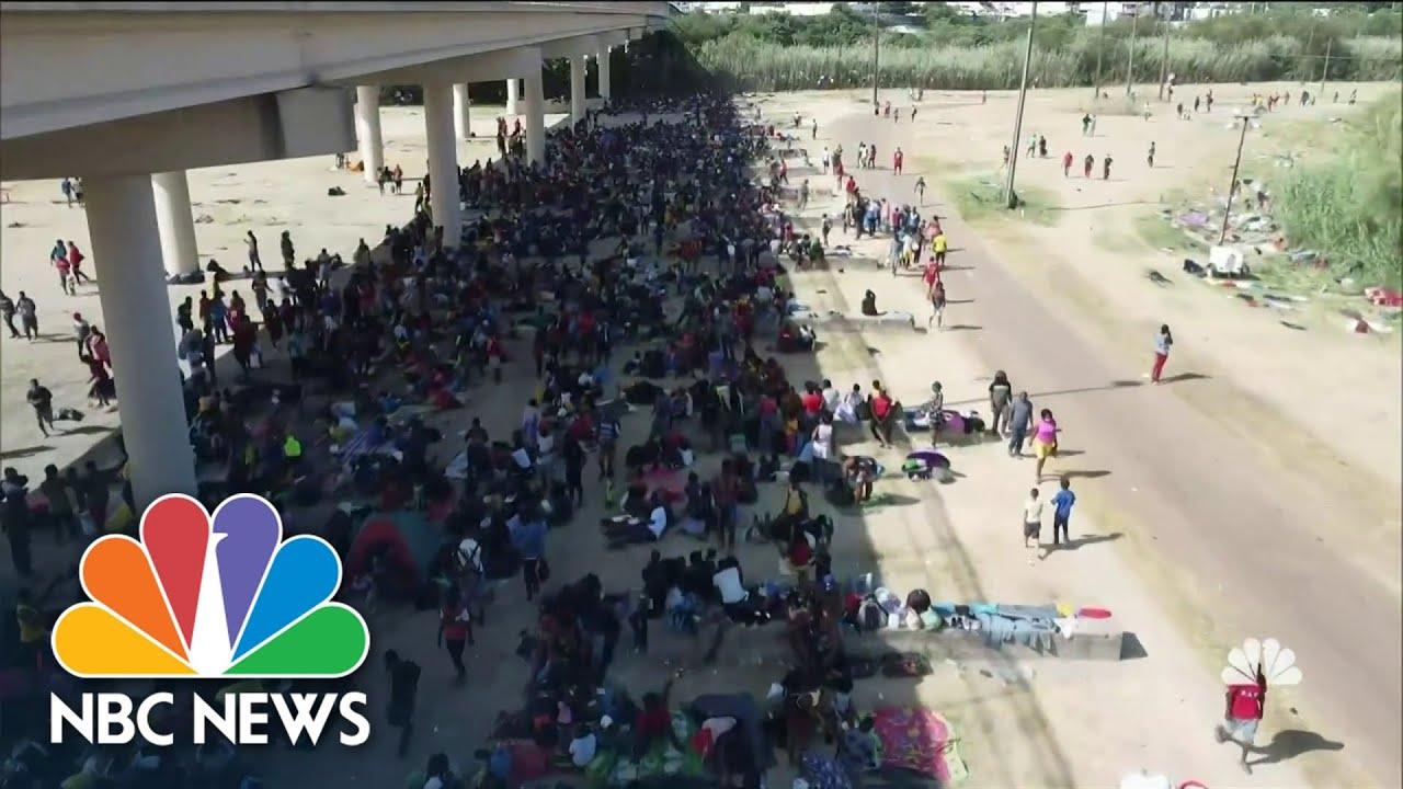 Southern Border Crisis Apparent in Del Rio Texas