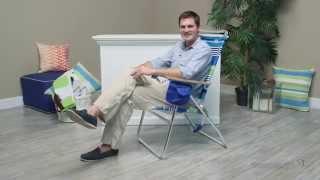 Rio Hi-boy Beach Chair - Swell Blue/green Stripe