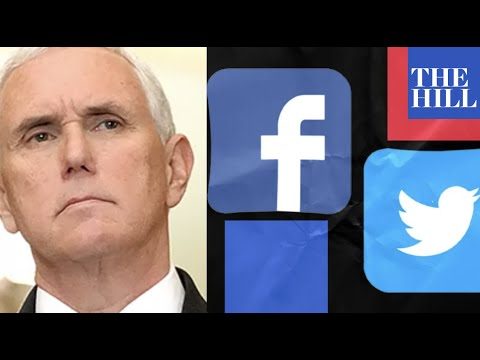 """Mike Pence calls out """"big tech"""" censorship"""