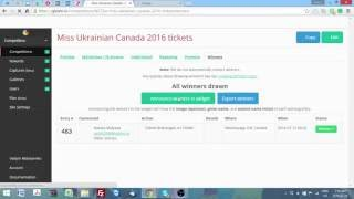 Miss Ukraine Canada 2016 tickets draw