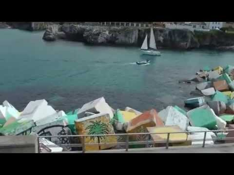 Llanes  Asturias, Spain,  beach and Cubes of Memory