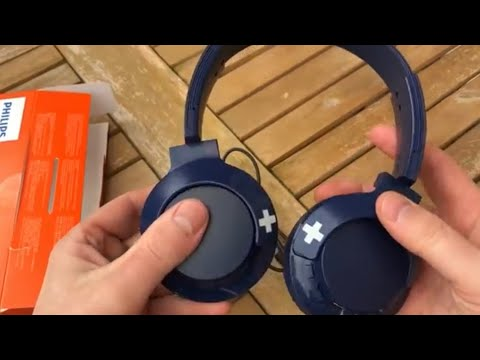 Philips shb4305bk bass+ bluetooth headphones wireless with mic in ear
