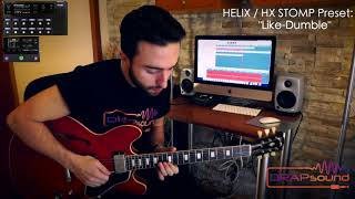 "Luca Privitera plays HELIX / HX STOMP Preset: ""Like-Dumble"": isolated track"