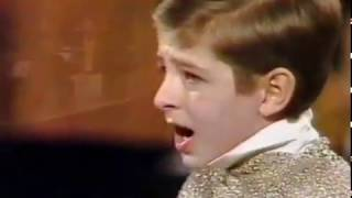 Video: Max Emanuel Cencic, boy soprano, sings Strauss, Voices of Spring Waltz, 1987