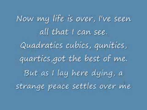 Quadratic Formula Song Lyrics - YouTube
