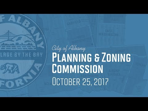 Planning & Zoning Commission - Oct 25, 2017