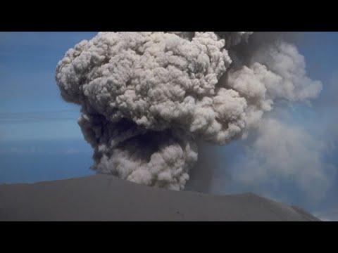 The Active Volcano on the Congo Rwanda Border; Visoke