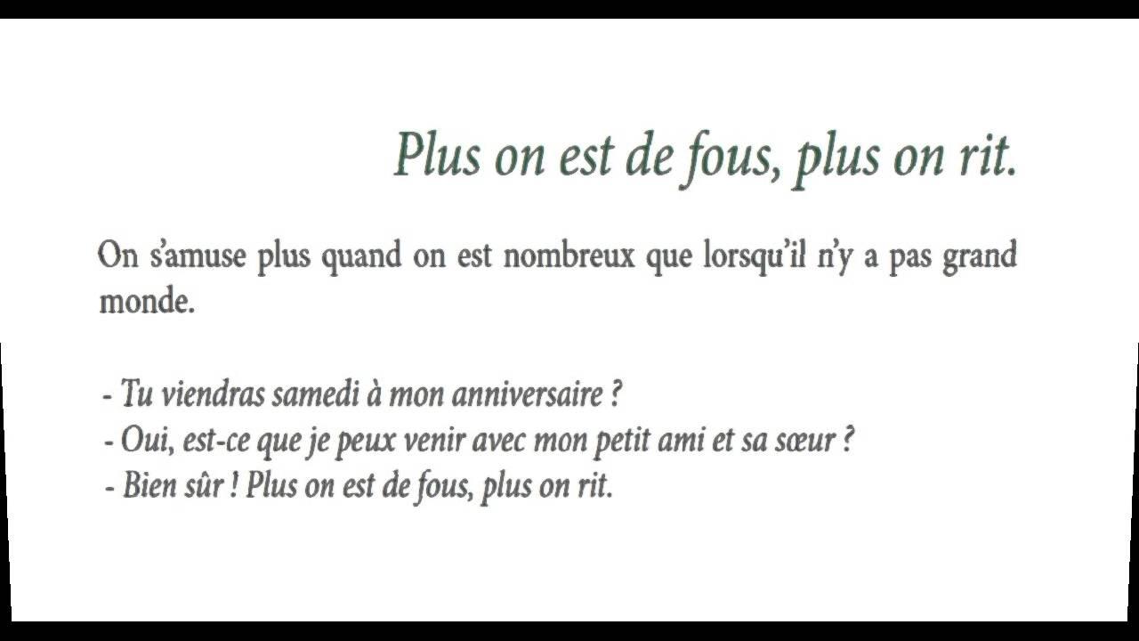 100 Proverbes Francais Et Leur Signification 1 10 Youtube