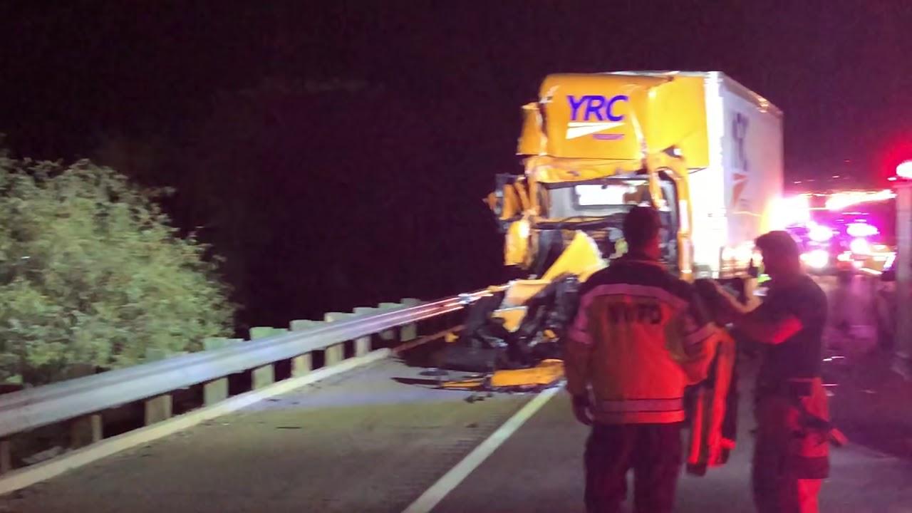 Interstate 10 semi-truck crash