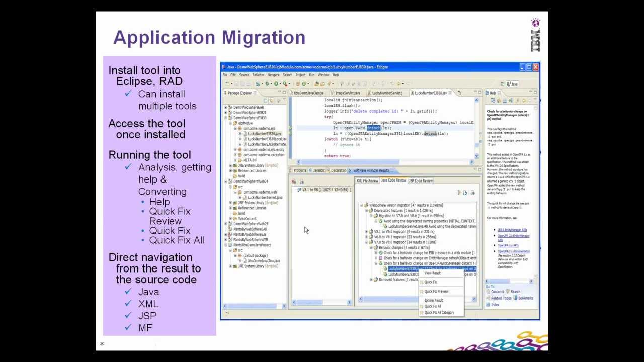 What are the Migration Steps that are involved?