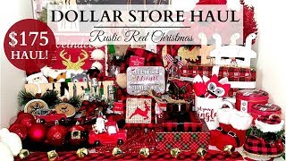 $175 Dollar Store Haul! ~ Dollar Tree & 99 Cent Store ~ Red Buffalo Check Theme