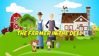 The Farmer in the Dell (instrumental nursery rhyme - lyrics video for karaoke)