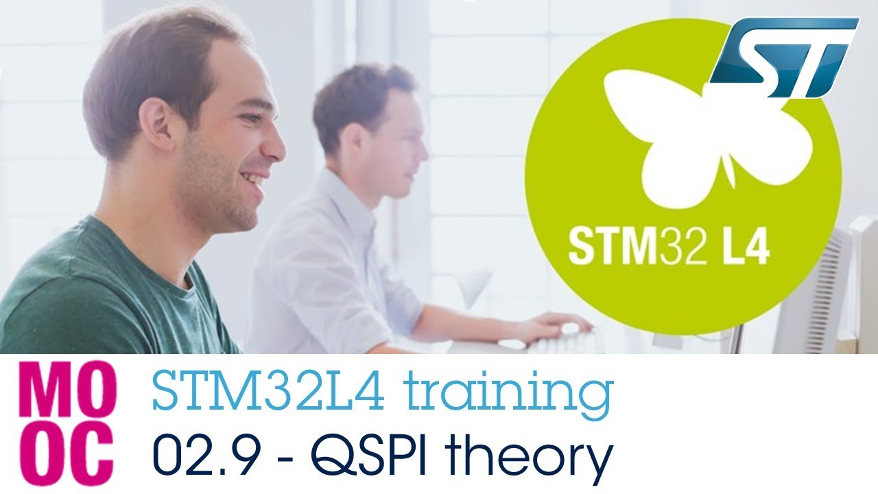 STM32L4 training: 02 9 System and memories - Quad SPI memory controller  (QSPI) theory