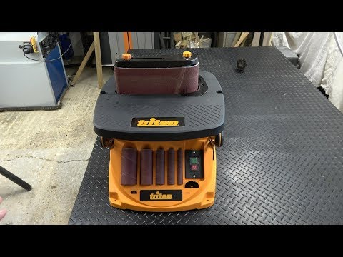 Triton Oscillating Spindle & Belt Sander - Review and demonstration.  A great bit of kit!