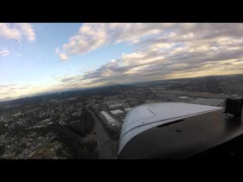 KRNT Traffic Pattern Flight Lesson