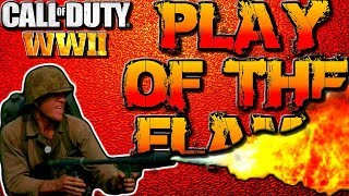 "COD WW2 Multiplayer Gameplay ""PLAY OF THE GAME"" - Flamethrower Scorestreak! (Call of Duty WWII)"