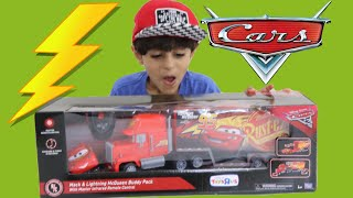 Disney Cars Unboxing RC Turbo Mac Truck Toy for Kids!FAMILY FUN TOYS