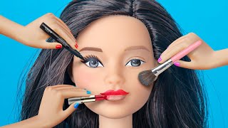 9 Weird Ways To Sneak Barbie Dolls Into Class / Clever Barbie Life Hacks