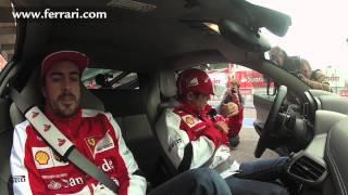 アロンソ&マッサ、458イタリアでサーキット走行