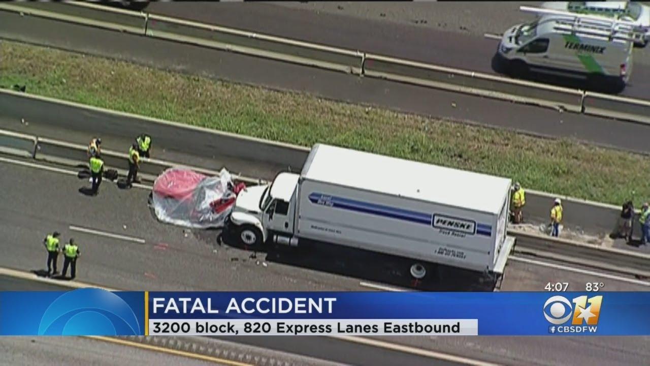 1 Killed In Crash On I-820 Express Lanes In Fort Worth