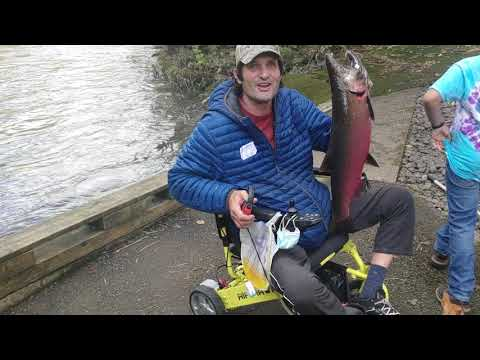 2020 Coho Salmon Fishing And Catching At The North Fork Nehalem Fish Hatchery In Oregon