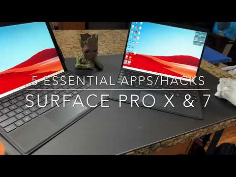 Send Texts On Your Surface Pro X & 7! 5 ESSENTIAL APPS & Setup Tips: ARM64 Apps, Browsing In Bed!