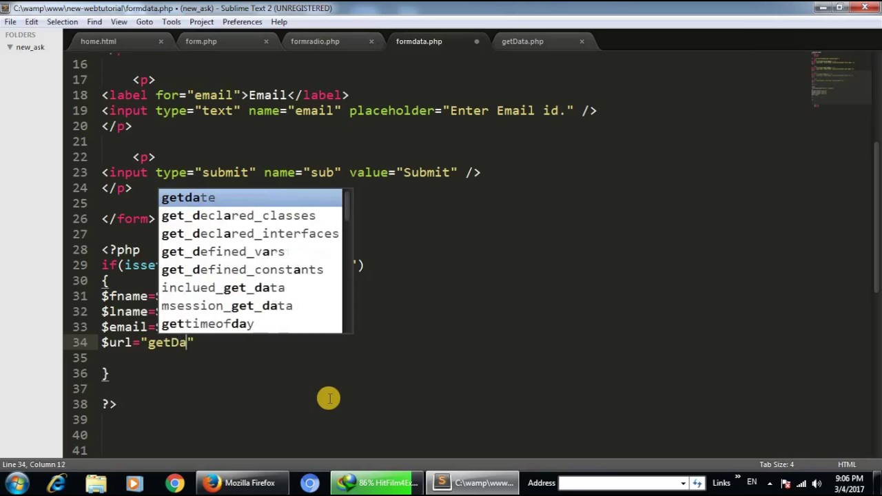 How to can read data from url using php and mysql