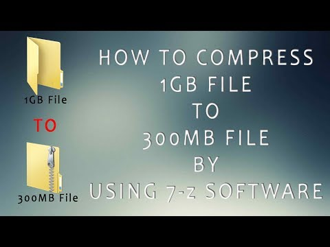 How To Compress Files 1GB To 300MB By Using 7-zip Software  - YouTube