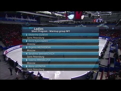 2017 Russian Nationals - Ladies Short Program Group 1 ESPN