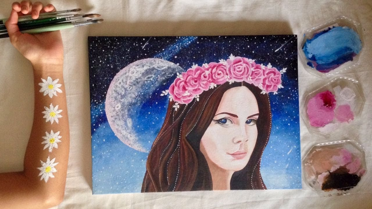 Don't Worry Baby | Lana Del Rey Oil Painting | Time-lapse ...