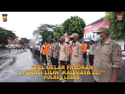 Apel Gelar Pasukan Ops Lilin Kalimaya 2020,Polres Lebak