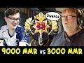 When 9000 MMR meets 3000 MMR — Miracle lane vs Legend