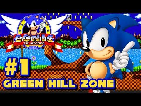 Sonic the Hedgehog Sega Genesis - (1080p) Part 1 - Green Hill Zone