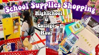 Back to School Supplies Shopping/Haul 2019 *Highschool & College