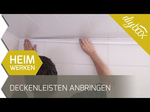 Beliebt Deckenleisten anbringen - YouTube EN14