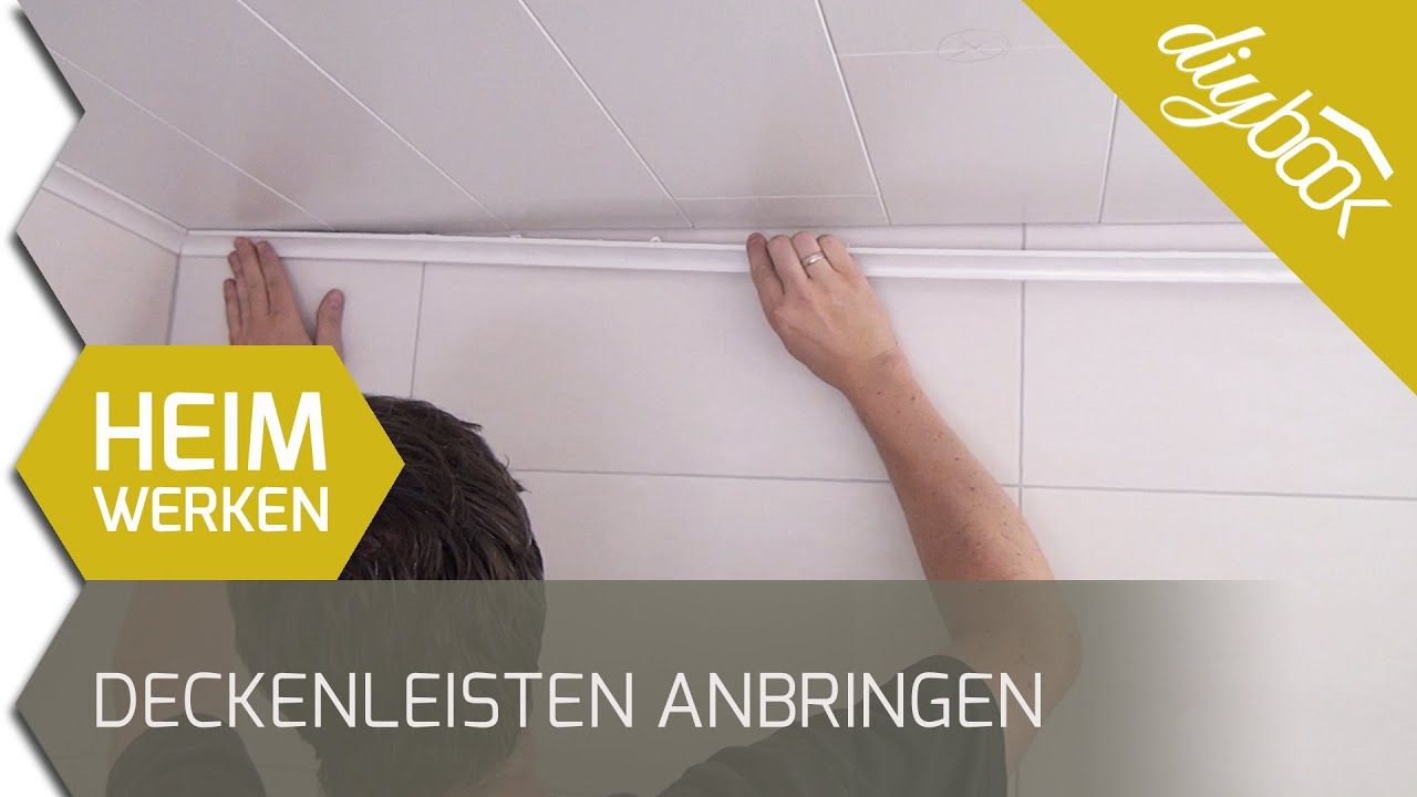 Deckenleisten Anbringen Video Anleitung Diybook At