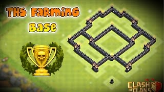 The BEST Th5 Farming Base! | Clash Of Clans!