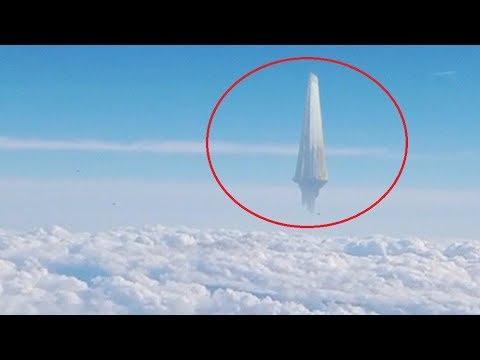 В НЕБЕ над Японией завис НЛО / НЛО В Небе Снятое На Камеру