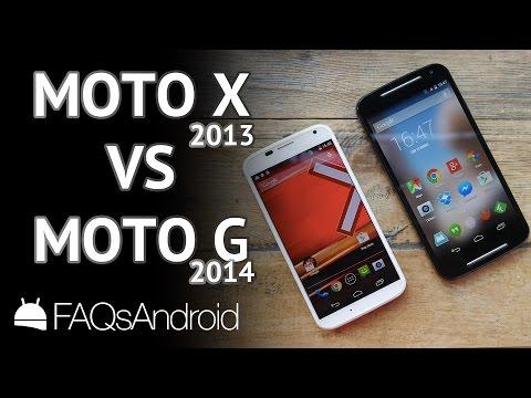 Moto G 2014 vs Moto X 2013: LA COMPARATIVA
